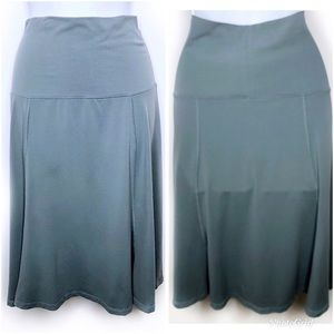 Lucy Athletic Fold Over A-Line Skirt Slate Small